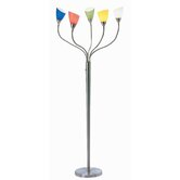 Uni Floor Lamp in Steel with Colored Shades
