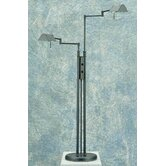 Pharma Twin Arm  Floor Lamp in Black