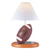 Football  Table Lamp in Natural Wood