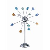 Star Struck Fourteen Light Accent Lamp in Chrome with Multi Colored Star Shades