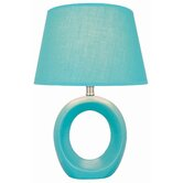 Bellona  Table Lamp in Blue Ceramic