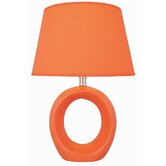Bellona  Table Lamp in Orange Ceramic