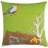 "Nesting 18"" x 18"" Cotton Pillow in Lime"