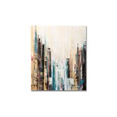 "Handpainted City Abstract Printed Canvas Art - 28"" X 24"""