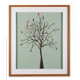 "Patchwork Tree Framed Print Art - 28"" X 24"""