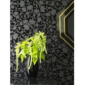 Barbara Hulanicki Flock Skulls Wallpaper in Black