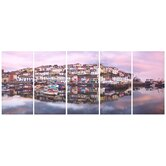 Brixham Harbour Canvas (set of 5)
