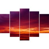 Drama Sunset Canvas (set of 5)