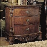 Edwardian 3 Drawer Nightstand