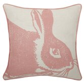 Bunny Linen Pillow in Rose