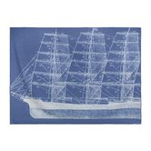 Maritime Throw Blanket in Azure