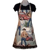 Smokin' Hot Cowboys Women's Bib Style Apron