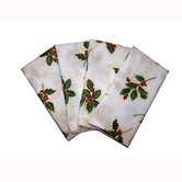 Holly Berry Napkin with Hem Finish (Set of 4)