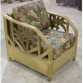 Cancun Palm Lounge Chair with Cushion