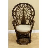 Peacock Rattan Fabric Arm Chair