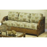 Cancun Palm Rattan Sleeper Sofa
