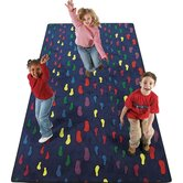 Educational Footprints Kids Rug