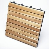 Le Click Exclusive Teak Interlocking Decking Tiles (Box of 10)