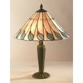 Leaf Tiffany Table Lamp in Green