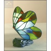 Butterfly Tiffany Table Lamp in Blue