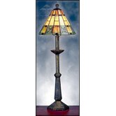 Egyptian Terracotta Tall Table Lamp in Multi Colours