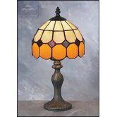 Bistro Tiffany Table Lamp in Beige and Brown
