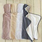 Mini Stripe Cotton and Linen Hooded Towel Baby
