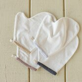 Mini Stripe Cotton and Linen Bath Mitt