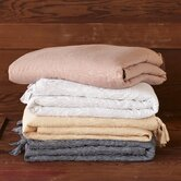 Mini Stripe Cotton and Linen Duvet Collection