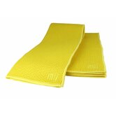 "MUmodern Waffle 16"" x 24"" Microfiber Dish Towel in Lemon (Set of 2)"