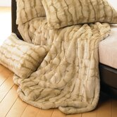 Lover Boy Luscious Fur Throw &amp; Pillow in Tawny