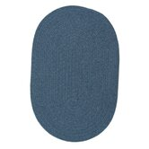Solid Wool Blend Federal Blue Rug