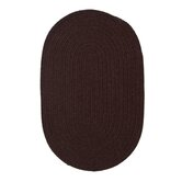 Solid Wool Blend Dark Brown Rug