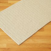 All-Natural Wool Herringbone Natural Rug