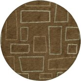 Sensations Geometric Brown Rug