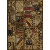 Vintage Gold Tribal Patchwork Rug