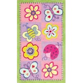 Flowers and Butterflies Kids Rug