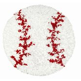Shaggy Raggy Baseball Kids Rug