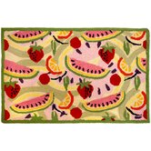 Accents Garden and Floral Fruit Toss Novelty Rug
