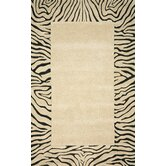 Seville Neutral Tiger Border Rug