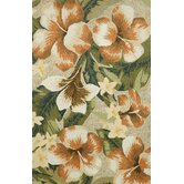 Ravella Tropical Flower Neutral Indoor / Outdoor Rug