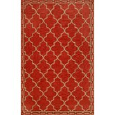 Ravella Floor Tile Red Indoor / Outdoor Rug