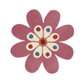 Fantasia Flower Light Pink Kids Rug