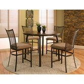 Casual Dining 5 Piece Counter Height Dining Set