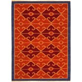 Anatolia Red Oxide/Navy Tribal Rug