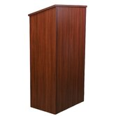 One-Piece Full-Height Stand-Up Lectern without Sound