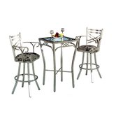 New Rochelle 3 Piece Bar Height Pub Set