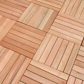 FSC-Certified FSC Eucalyptus Hardwood / 1 Box of 10 Tiles