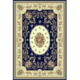 Sorrento Navy Medallion Rug