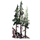 Refraxions Pine Trees 3D Wall Art